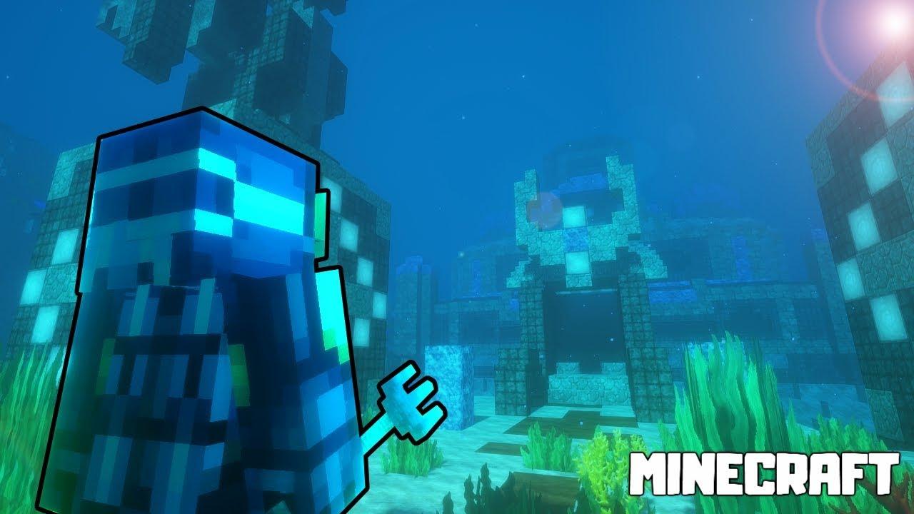 THE UNDERWATER TEMPLE LOOT RAID! Minecraft Epic Machinima