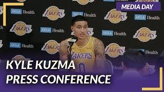Lakers Press Conference: Kyle Kuzma  on Media Day