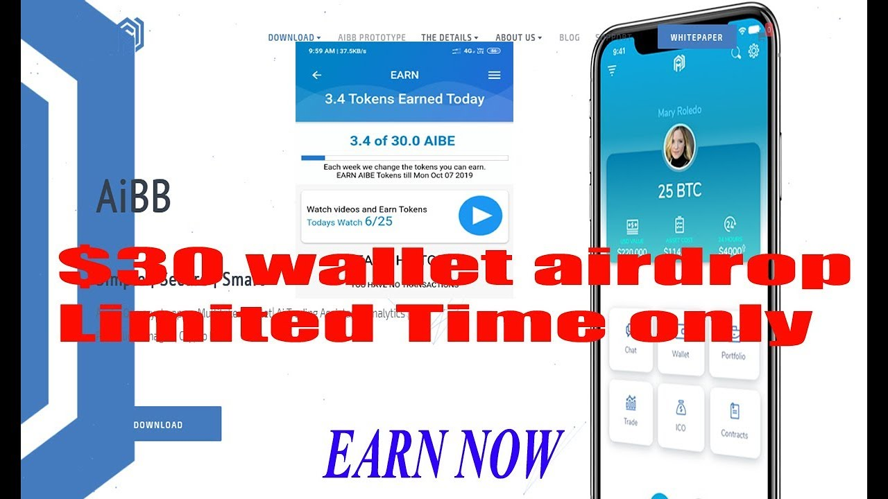 30$ AiBB wallet airdrop    Join Fast and Earn Coins    Limited time only