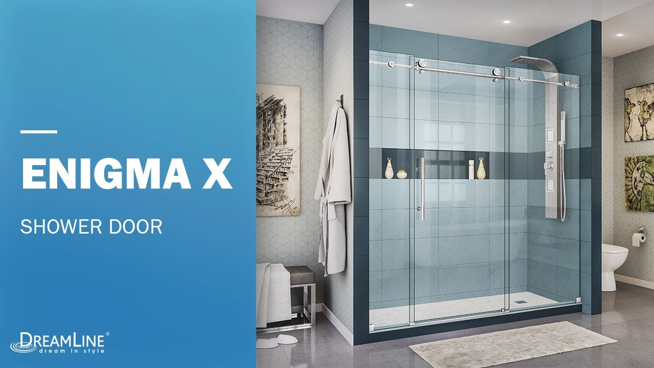 Dreamline Enigma X Frameless Shower Door Sliding Opening Youtube