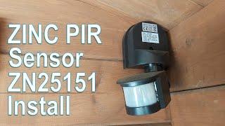 ZINK Dion 180 degree PIR sensor ZN25151 installation