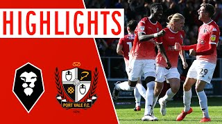🎥 Highlights | Salford City 1-1 Port Vale | Sky Bet League Two
