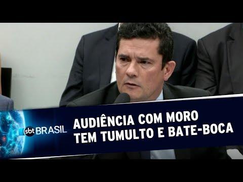 Audiência Com Sérgio Moro Na Câmara Tem Tumulto E Bate-boca   SBT Brasil (02/07/19)