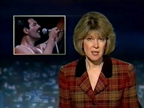 UK TV News Report - Freddie Mercury Death