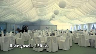 Namiot weselny dla 130 osób