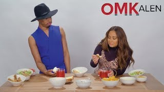 OMKalen: Kalen and 'The Real' Host Adrienne Houghton Dunk Burgers & Bagels in Fruit Punch for Br
