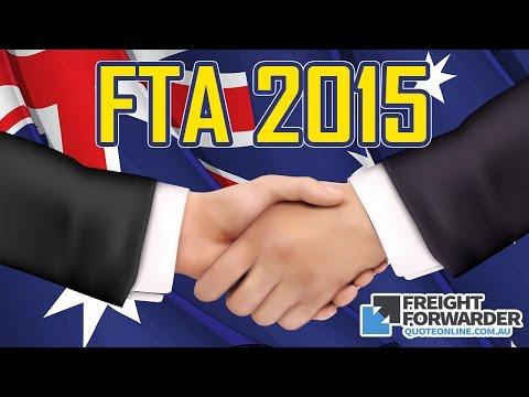 Australia Free Trade Agreements (FTA) 2015