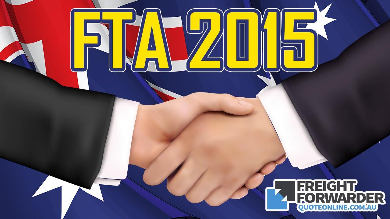 Australia Free Trade Agreements Fta 2015 Youtube