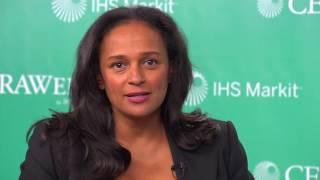 Isabel dos Santos interviewed by Atul Arya @CERAWeek 2017