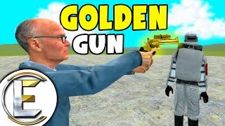 The Golden Gun Kills Admins With GOD MODE! - Gmod DarkRP Life (One Shot Kill Like Golden Eye Game)