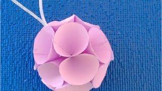 DIY. Цветной Шар на Новогоднюю Елку Как сделать Своими Руками : Ball on Christmas Tree