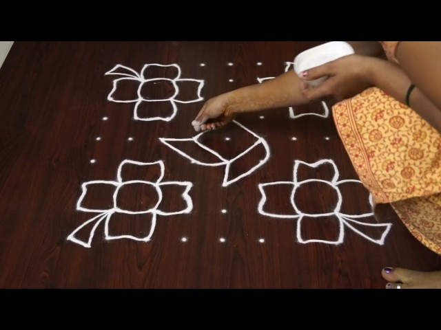 easy kolangal || easy rangoli kolam designs || latest small pulli kolam