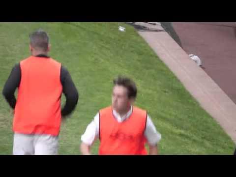 Robbie Williams and Mark Owen Soccer Aid 2012