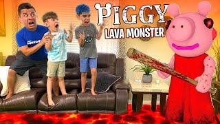 PIGGY Is The Lava Monster! The Floor Is Lava In Real Life (FUNhouse Family)