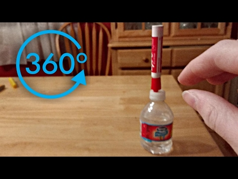 360 VR Water Bottle Flip Trick Shots!! - 360 Degree Video VR | 4K