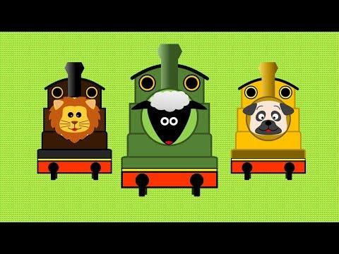 アニマル機関車 | こども向け踏切アニメ | Animal Train - YouTube