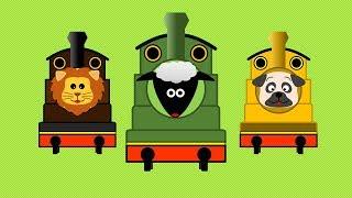 アニマル機関車 | こども向け踏切アニメ | Animal Train thumbnail