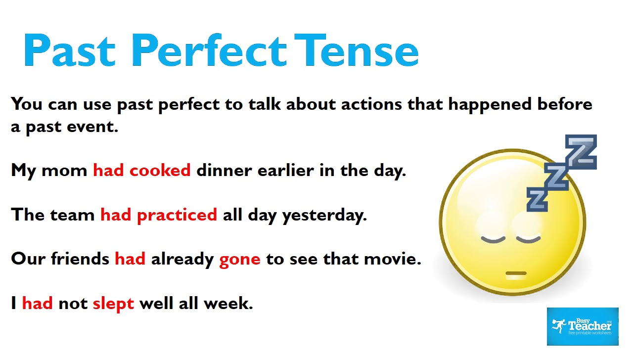 The past simple and past perfect tenses - Learners ...