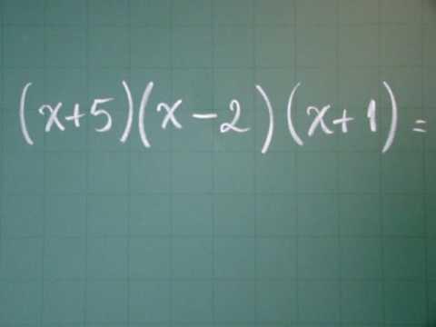 Vídeo 014 - Multiplicação de Polinômio por Polinômio