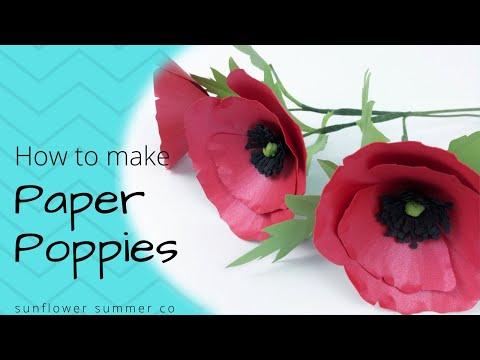 Poppy- Paper Flower Tutorial - Sunflower Summer Co