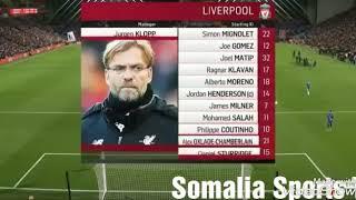 Tabintii wariye Khadar Ciyartii Chalsea vs Liverpool
