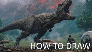 How to Draw a Dinosaur T-Rex