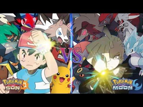 Pokemon Sun and Moon Alola Ash Vs Gladion (Pokemon Team Prediction)