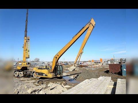 Как не должен работать длиннорукий экскаватор CAT 320 Long Reach Excavator