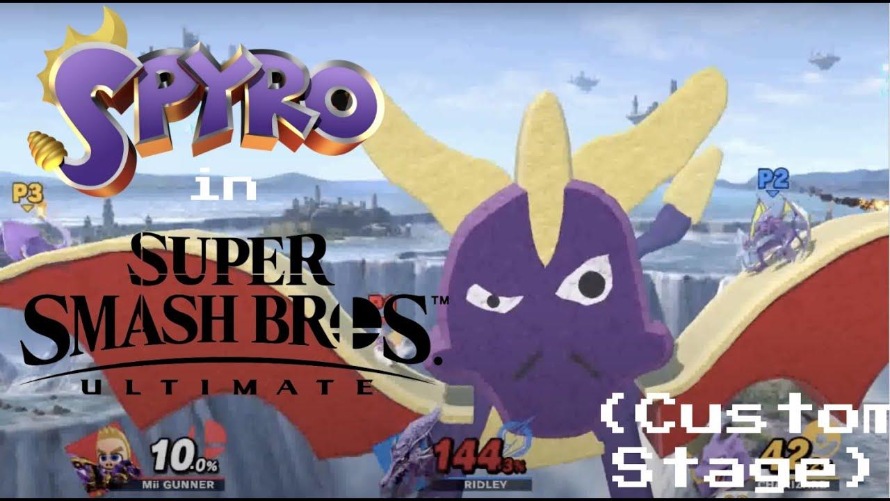 Spyro Takes Flight! Spyro the Dragon in Smash Ultimate (Custom Stage)