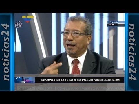 Saúl Ortega denunció que la reunión de cancilleres de Lima viola el derecho internacional