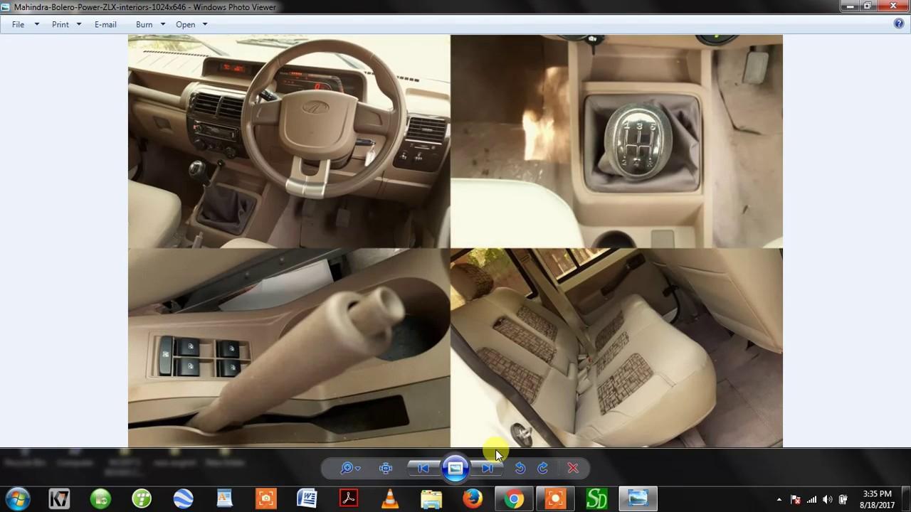 Mahindra bolero top model zlx bs iv price full review engine