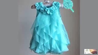 Girls Dress Chiffon Party Dress Infant 1 Year Birthday Dress Baby Girl Clothes Vestidos FREE SHIPPIN
