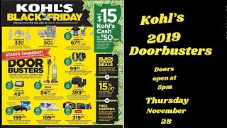Kohl's 2019 Door Busters ||Thanksgiving || Black Friday