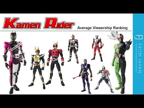 Kamen Rider: Heisei-era Average Viewership Ranking Part 2   FROM JAPAN