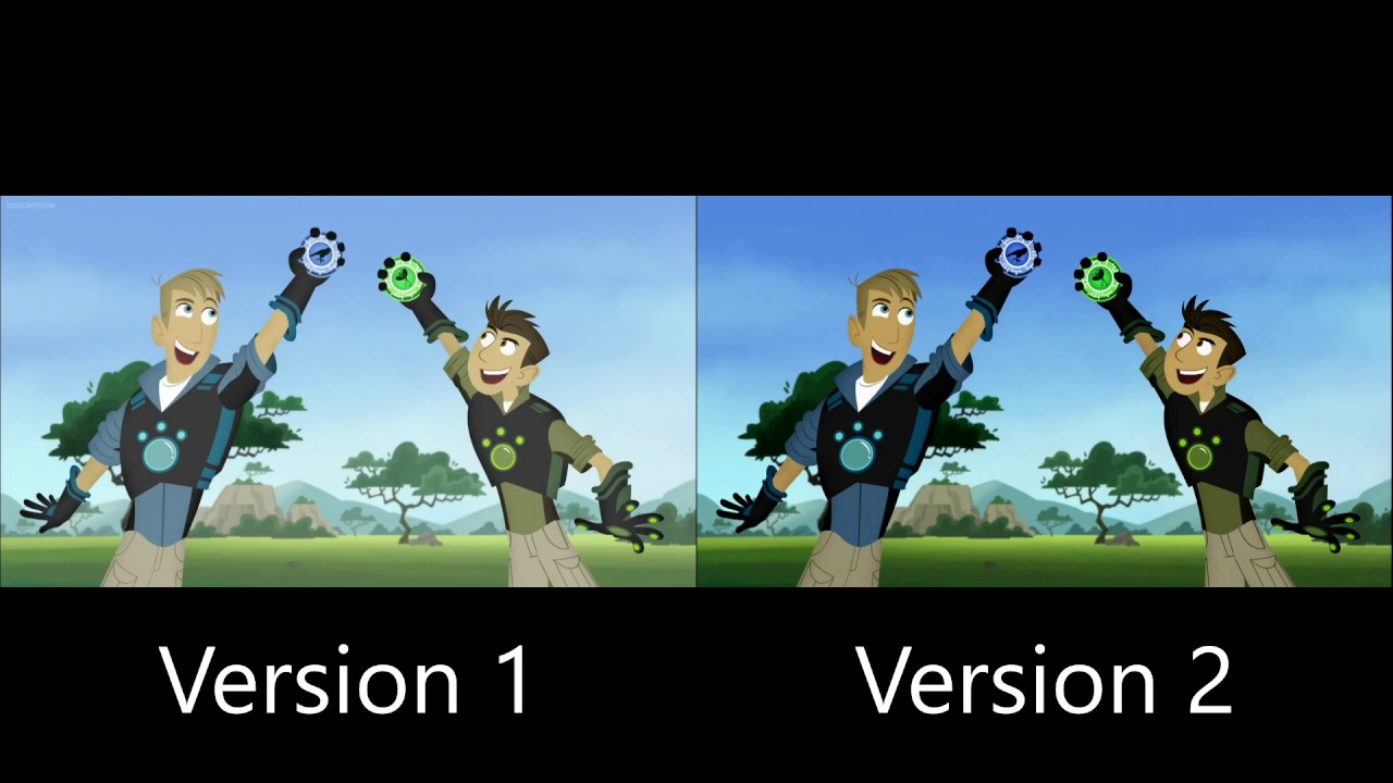 Wild Kratts Theme Song Comparison Youtube