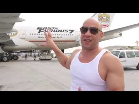 Furious 7 Vin Diesel Interview at Fast & Furious 7 LAX Event