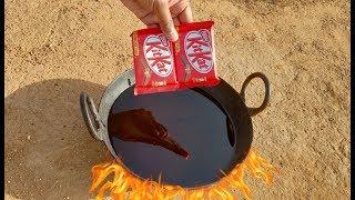 KitKat vs Hot Oil experiment || KitKat on Hot oil experiment || Experiment king