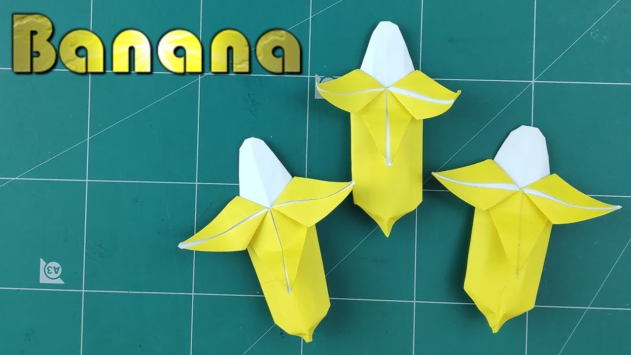 Banana Papercraft papertoy papertrophy Origami DIY Paper model patron
