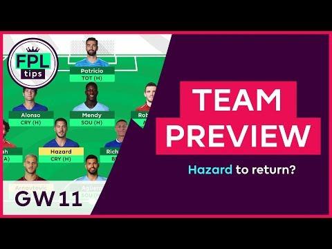 fpl-team-selection:-gw11-|-will-hazard-return-for-gameweek-11?-fantasy-premier-league-2018/19