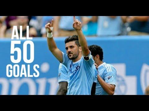 David Villa All 50 Goals For New York City