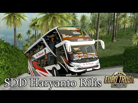 Bus SDD PO Haryanto Rilis keliling Sulawesi    ets2 indonesia