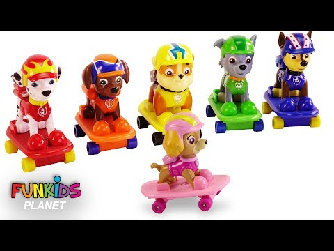 Thumbnail: Learn Colors Videos: Paw Patrol Skateboards Pups with Skateboarding Ramp