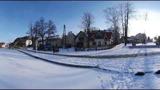 Zima w Mikołajkach w 360 stopniach