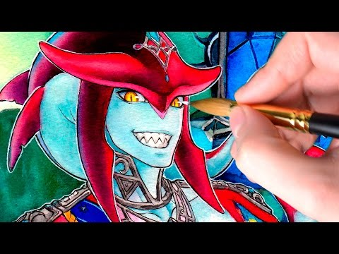 Sidon - Zelda: Breath Of The Wild【WATERCOLOR PAINTING】