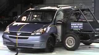 107 IIHS Crash Tests  20042011 Toyota Sienna crash testflv