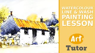 Watercolour Line & Wash Painting Lesson