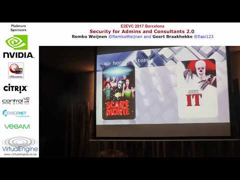 Security for admins and consultants 20 RemkoW GeertB