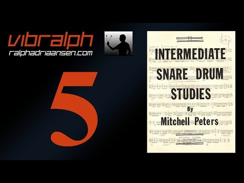 Vibralph - Intermediate snare drum studies Study #1