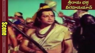 War Between Rama & Ravana Scene || Sri Rama Bhakta Veera Hanuman Movie || Jaswa Jith, Dhara Singh