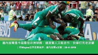 塞內加爾是今屆最佳非洲球隊,速度驚人又能合作,快拳打死老波蘭(何Wayne世界盃賽後評 - 塞內加爾v波蘭)20-6-2018